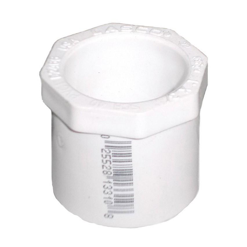 2 inch x 3/4 inch Sch 40 PVC Reducer Bushing - Flush - Spg x Slip 437-248