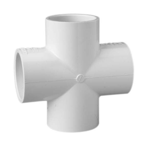"1/2"" Schedule 40 PVC Cross - Slip 420-005"