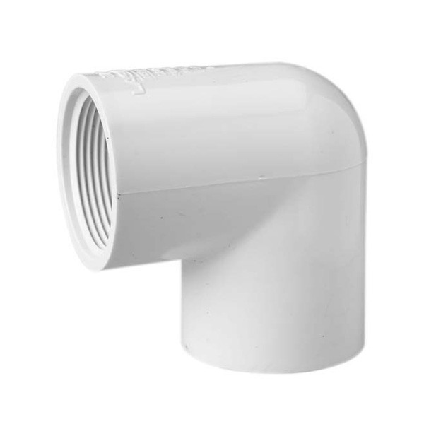 "4"" Schedule 40 PVC 90 Degree Elbow - Slip x FPT 407-040"