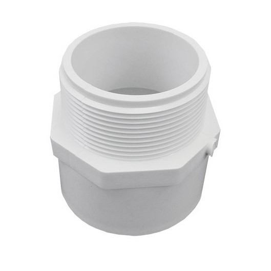 "4"" Schedule 40 PVC Male Adapter - MPT x Slip 436-040"