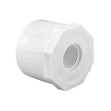1/2 inch x 1/4 inch Sch 40 PVC Reducer Bushing - Flush - Spg x FPT 438-072