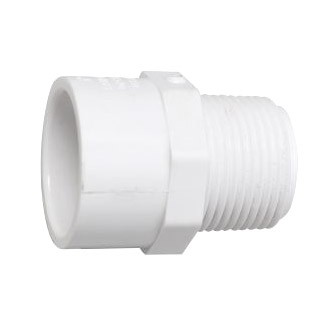1-1/2 inch x 1-1/4 inch Sch 40 PVC Reducing Male Adapter - MPT x Slip 436-212