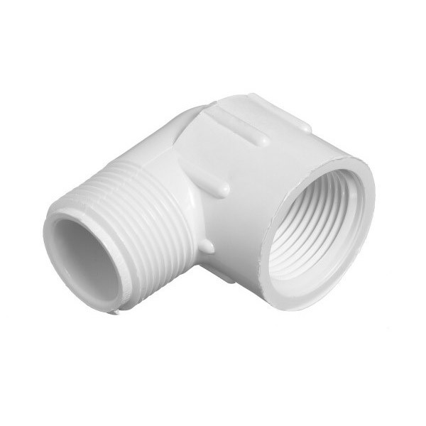 "3/4"" Schedule 40 PVC 90 Degree Street Elbow - FPT x MPT 412-007"