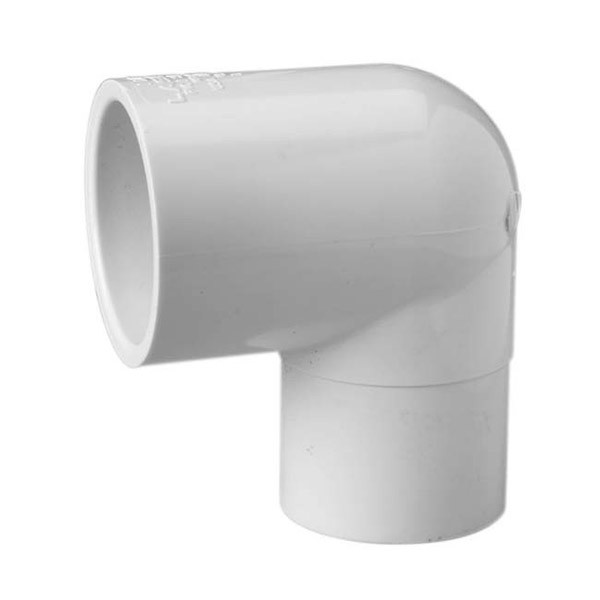 "2"" Schedule 40 PVC 90 Degree Street Elbow - Slip x Spg 409-020"
