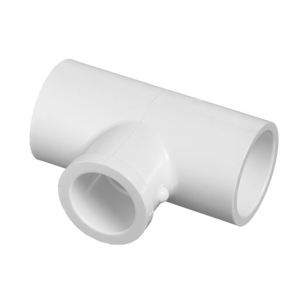 "3/4"" x 3/4"" x 1/2 Schedule 40 PVC Reducing Tee - Slip x Slip x Slip 401-101"