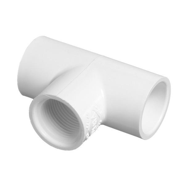 "1-1/4"" Schedule 40 PVC Tee - Slip x Slip x FPT 402-012"