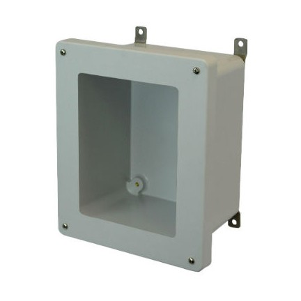 10x8x4 NEMA 4X Fiberglass Enclosure Lift-Off Screw Cover Window