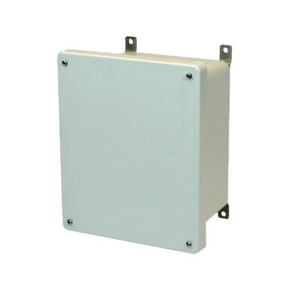 10x8x6 NEMA 4X Fiberglass Enclosure Lift-Off Screw Cover
