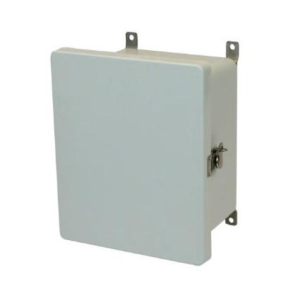 10x8x6 NEMA 4X Fiberglass Enclosure Twist Latch Hinged Cover