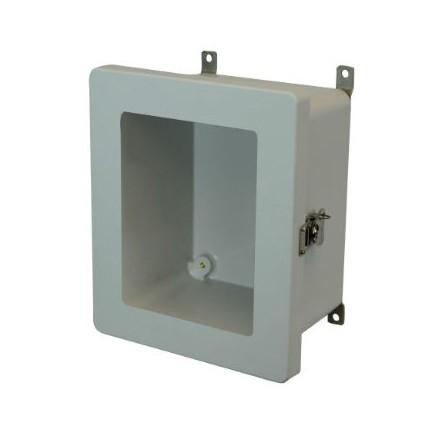 10x8x6 NEMA 4X Fiberglass Enclosure Twist Latch Hinged Cover Window