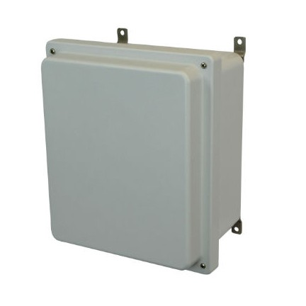 12x10x6 NEMA 4X Fiberglass Enclosure Raised Lift-Off Screw Cover