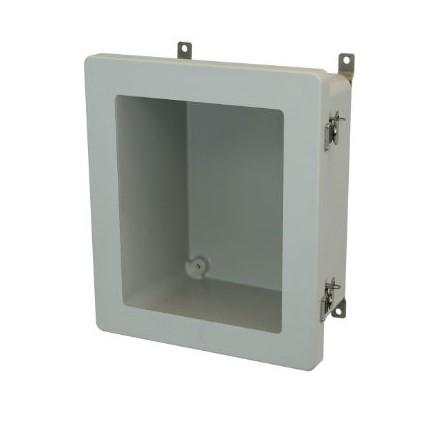 12x10x6 NEMA 4X Fiberglass Enclosure Twist Latch Hinged Cover Window