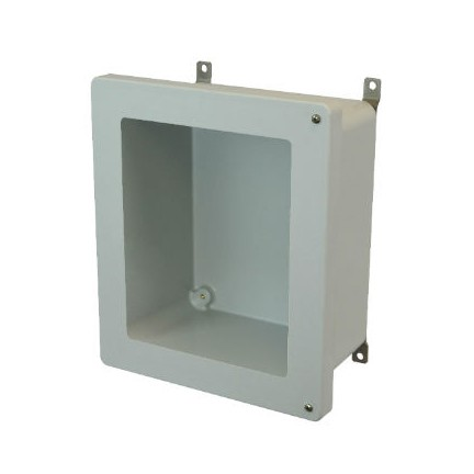 14x12x6 NEMA 4X Fiberglass Enclosure Hinged Screw Cover Window