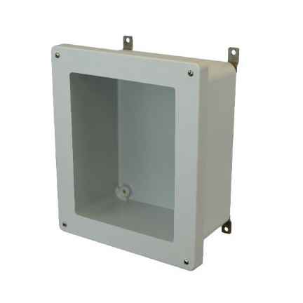 14x12x6 NEMA 4X Fiberglass Enclosure Lift-Off Screw Cover Window