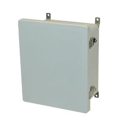 16x14x8 NEMA 4X Fiberglass Enclosure Quick-Release Latch Hinged Cover