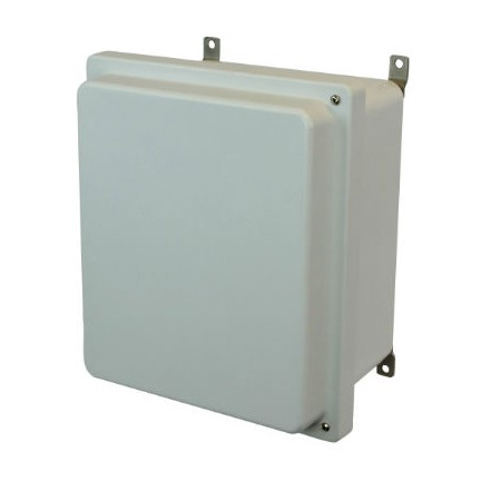 16x14x8 NEMA 4X Fiberglass Enclosure Raised Hinged Screw Cover