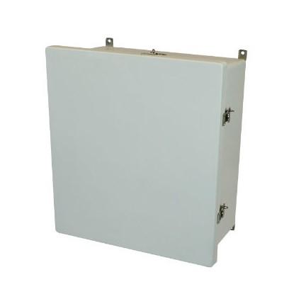 18x16x8 NEMA 4X Fiberglass Enclosure Twist Latch Hinged Cover