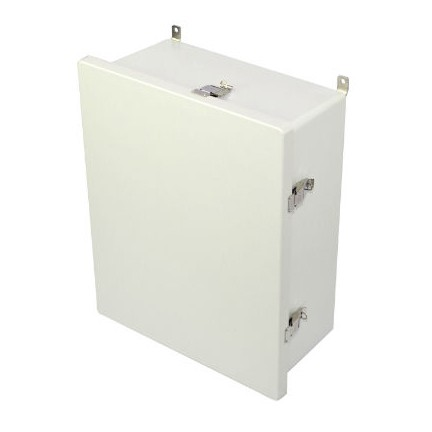 20x16x8 NEMA 4X Fiberglass Enclosure Quick-Release Latch Hinged Cover