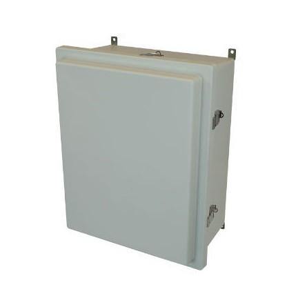 20x16x8 NEMA 4X Fiberglass Enclosure Raised Quick-Release Latch Hinged Cover
