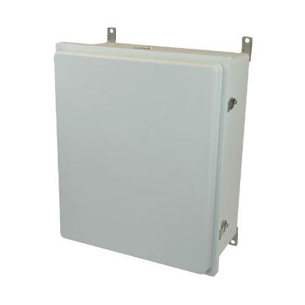 24x20x10 NEMA 4X Fiberglass Enclosure Raised Quick-Release Latch Hinged Cover