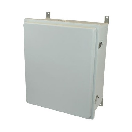24x20x8 NEMA 4X Fiberglass Enclosure Raised Quick-Release Latch Hinged Cover