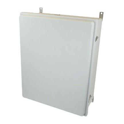 30x24x10 NEMA 4X Fiberglass Enclosure Raised Quick-Release Latch Hinged Cover