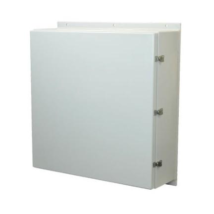 36x36x16 NEMA 4X Wall Mount Fiberglass Enclosure Twist Latch Cover