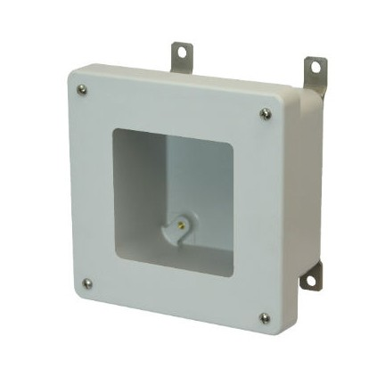 6x6x4 NEMA 4X Fiberglass Enclosure Lift-Off Screw Cover Window