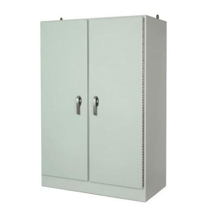 72x49x25 NEMA 4X Free-Standing Double Door Fiberglass Enclosure 3-PT Latching Handle