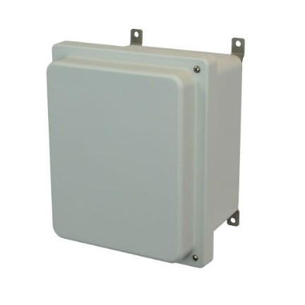 8x6x4 NEMA 4X Fiberglass Enclosure Raised Hinged Screw Cover
