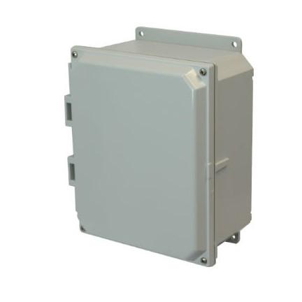 10x8x4 NEMA 4X Polycarbonate Encl Lift-Off Screw Cover Flange Mount