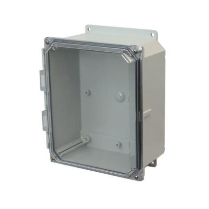 8x6x4 NEMA 4X Polycarbonate Encl Clear Lift-Off Screw Cover Flange Mount