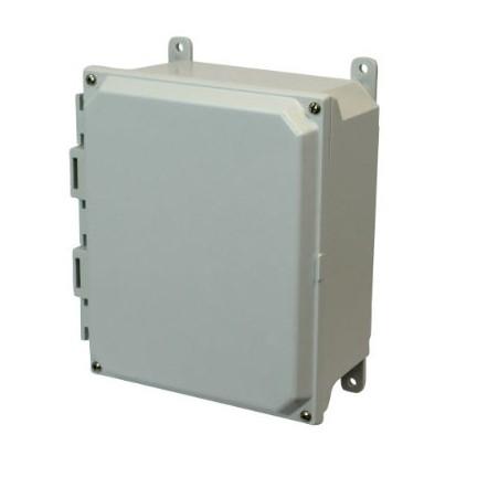 10x8x4 NEMA 4X Fiberglass Enclosure Lift-Off Screw Cover Foot Mount