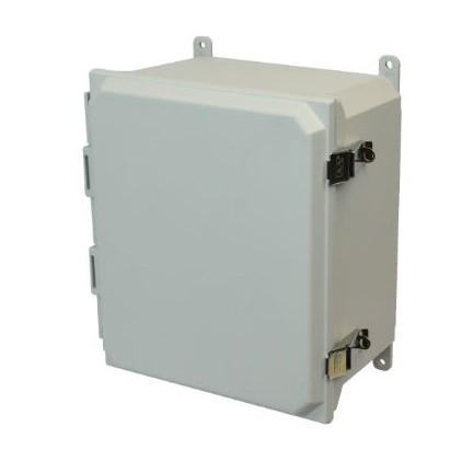 16x14x8 NEMA 4X Fiberglass Enclosure Quick-Release Latch Hinged Cover Foot Mount