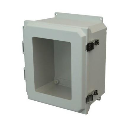 16x14x8 NEMA 4X Fiberglass Enclosure Twist Latch Hinged Cover Foot Mount