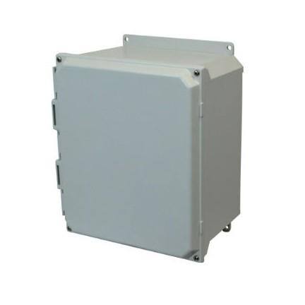 18x16x10 NEMA 4X Fiberglass Enclosure Lift-Off Screw Cover Flange Mount