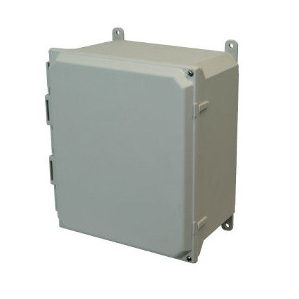 18x16x10 NEMA 4X Fiberglass Enclosure Hinged Screw Cover Foot Mount
