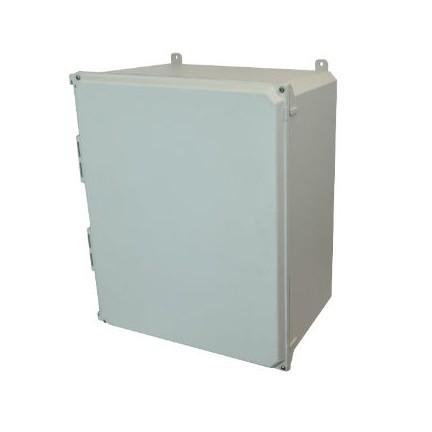 20x16x10 NEMA 4X Fiberglass Enclosure Lift-Off Screw Cover Foot Mount