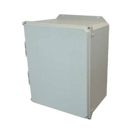 20x16x10 NEMA 4X Fiberglass Enclosure Lift-Off Screw Cover Flange Mount
