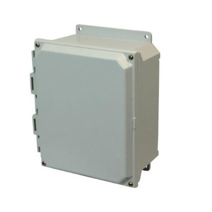 8x6x4 NEMA 4X Fiberglass Enclosure Lift-Off Screw Cover Flange Mount