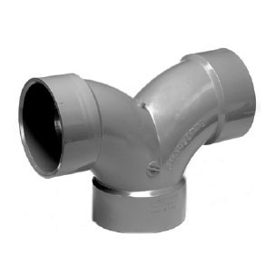 "1-1/2"" ChemDrain CPVC AW Double 1/4 Bend 10498"