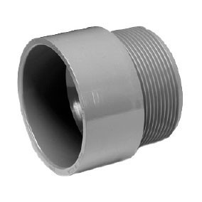 "6"" ChemDrain CPVC AW Male Adapter 10701"