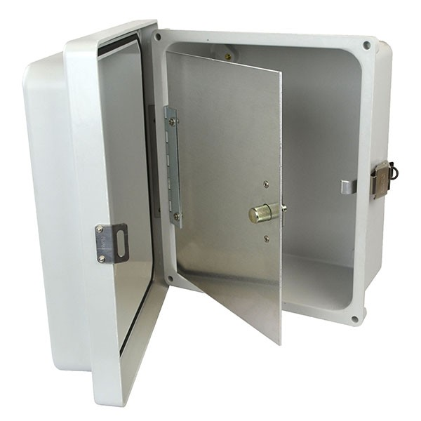 "Aluminum Hinged Front Panel for 16"" x 14"" Enclosures"