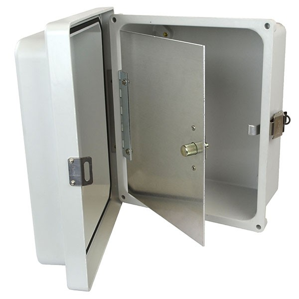 "Aluminum Hinged Front Panel for 18"" x 16"" Enclosures"