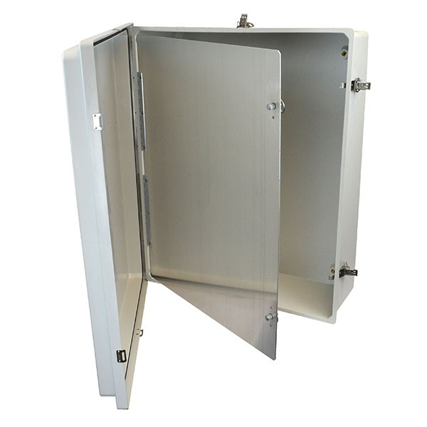 "Aluminum Hinged Front Panel for 24"" x 20"" Enclosures"