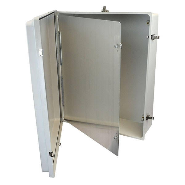 "Aluminum Hinged Front Panel for 30"" x 24"" Enclosures"