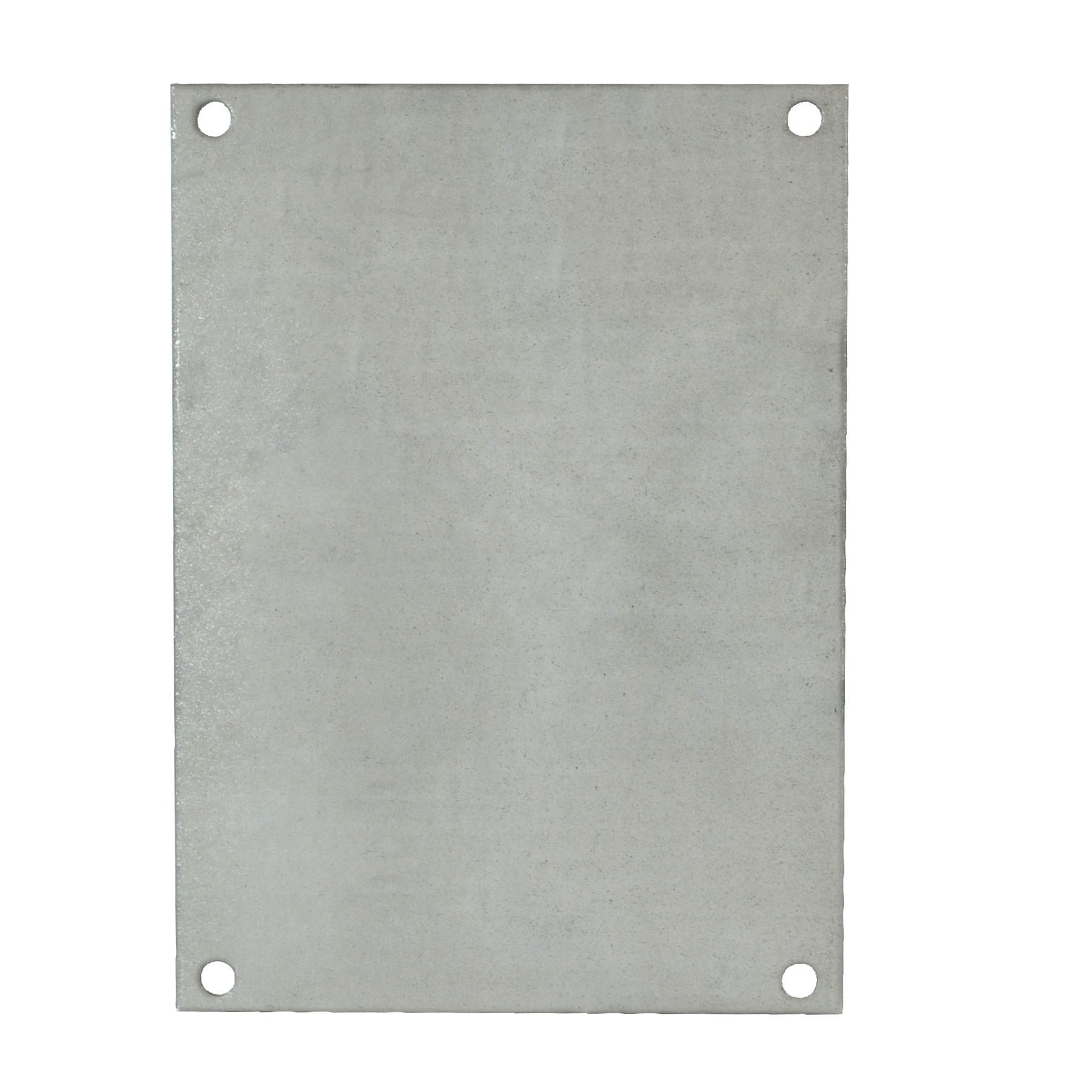 "Galvanized Back Panel for 12"" x 10"" Enclosures"