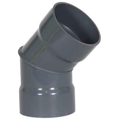 "4"" PVC Duct 45 Degree Elbow 1034-45-04"