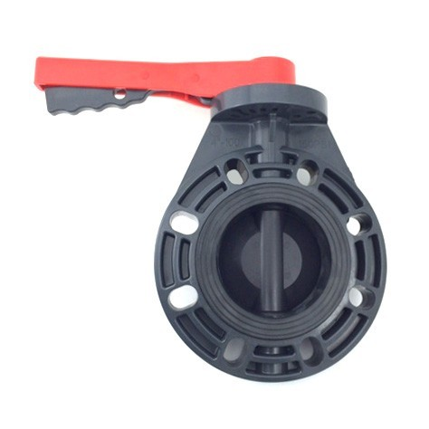 "4"" PVC Butterfly Valve (Flanged) - Lever Handle"