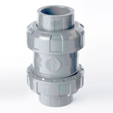 "1-1/2"" Sch 80 CPVC True Union Ball Check Valve (S x S)"